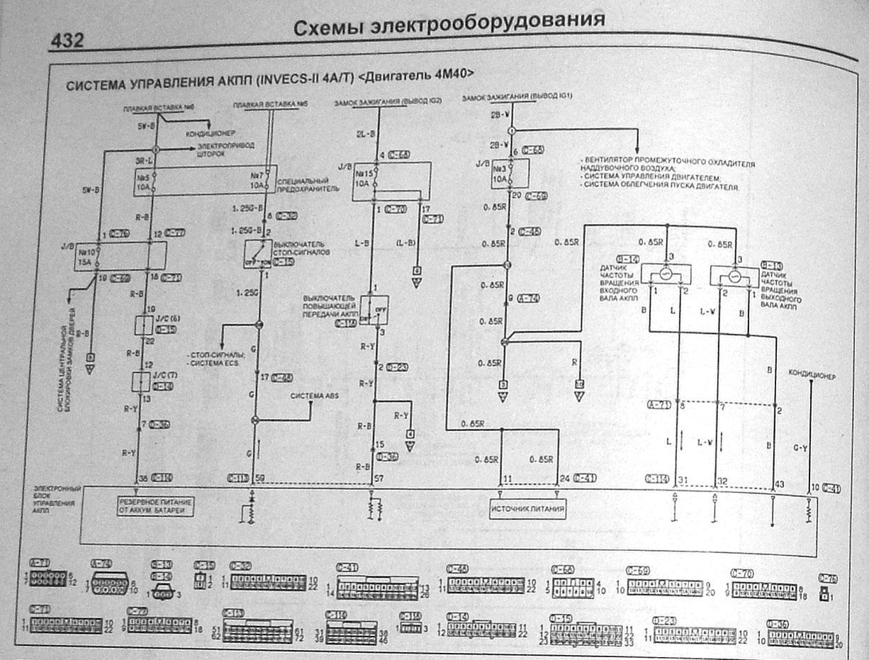 Схема блока управления акпп